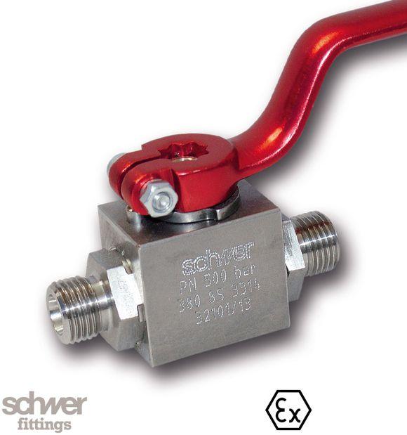 Hochdruck Blockkugelhahn - mit Schneidringanschluß nach EN ISO 8434-1 (DIN 2353)