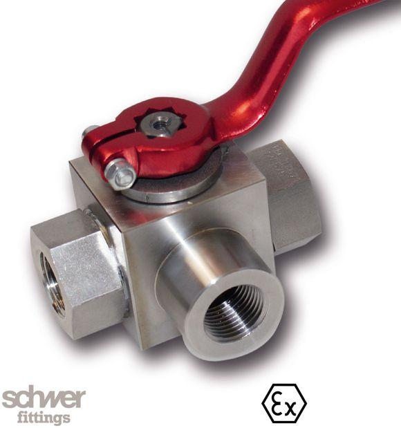 Umschalt-Muffenkugelhahn - Innengewindeanschluß mit zylindrischem Whitworth-Rohrgewinde nach EN ISO 228-1, Typenbezeichnung 3314.