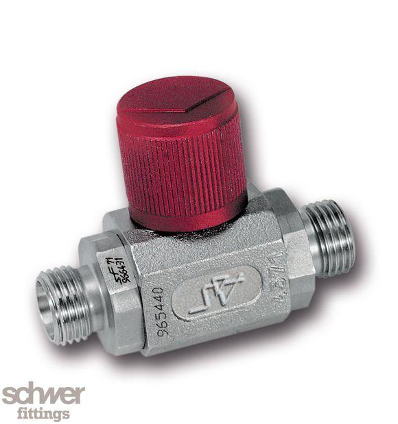 Mini-Kompaktkugelhahn - Mini-Kompaktkugelhahn mit 24° Schneidringanschluß, Einschraubstutzen mit Schneidringanschluß nach EN ISO 8434-1 (DIN 2353)