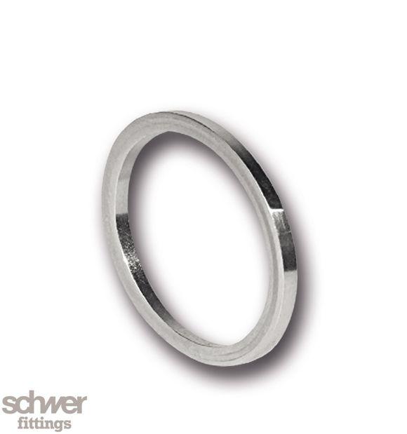 Metall Dichtring - für zylindrische Außengewinde, ballige Form, weichgeglüht
