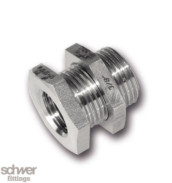 Schottverschraubung - mit zylindrischem Whitworth-Rohrgewinde nach EN ISO 228-1