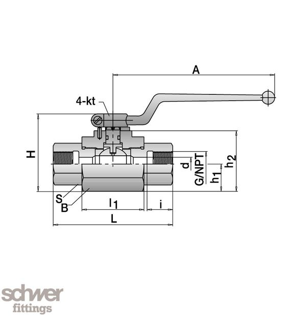 High Pressure Ball Valve - Schwer Fittings