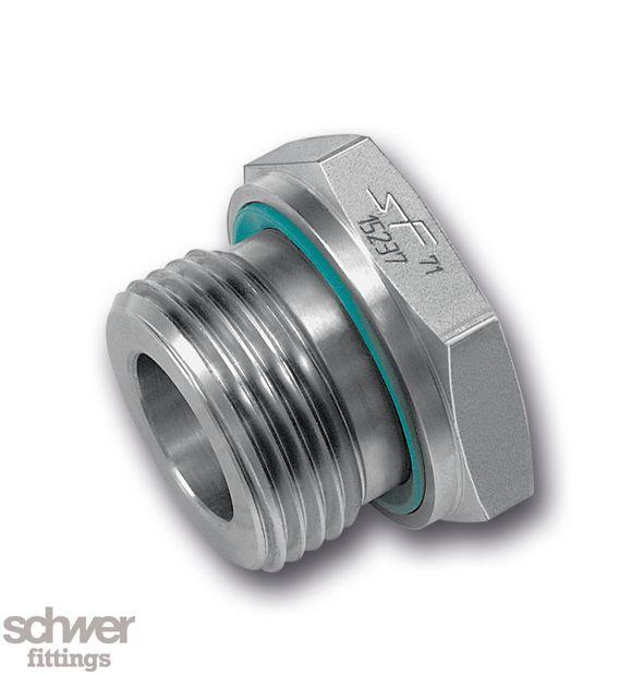 Reduzierstutzen - mit zylindrischem Whitworth-Rohrgewinde, innen und außen nach DIN/ISO 228, Weichdichtring