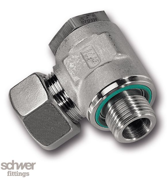 Winkel-Schwenkverschraubung - mit O-Ring, mit zylindrischem Whitworth-Rohrgewinde nach DIN/ISO 228