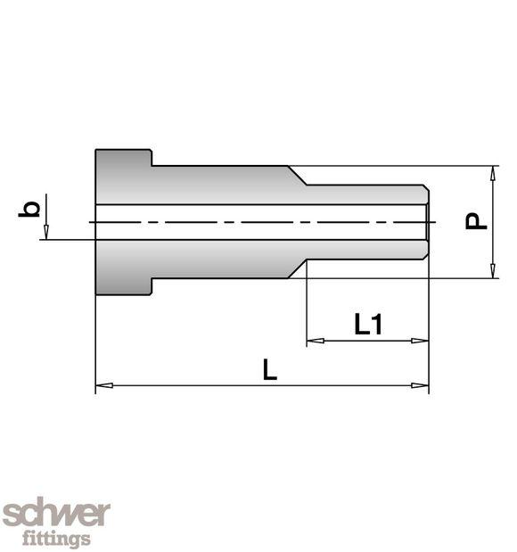 VO-Stutzen für Stumpfschweissung