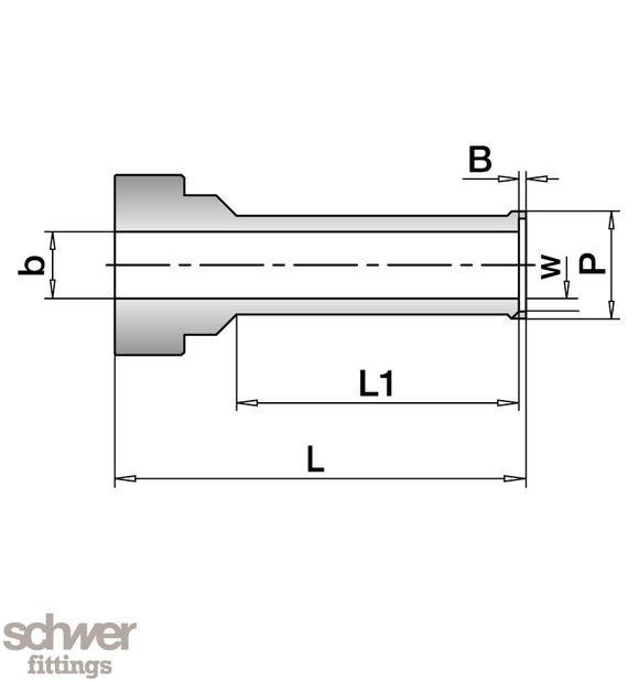 VO-Stutzen für Automatik Stumpfschweissen