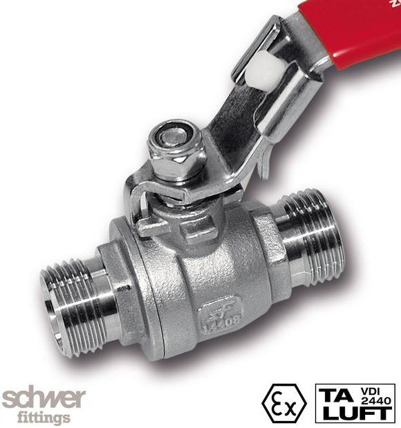 2-teiliger Kugelhahn mit Schneidringanschluss - mit beidseitigem Schneidringanschluss nach EN ISO 8434-1 (DIN 2353) und DIN 3861