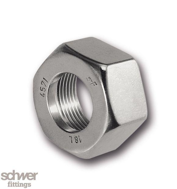 Überwurfmutter - nachEN ISO 8434, auf Wunsch Gewinde versilbert oder Duco-beschichtet