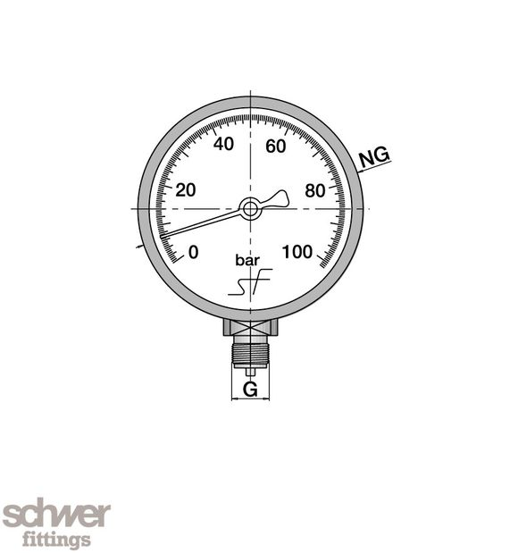 High Precision Pressure Gauge - Bourdon Tube Type - Schwer