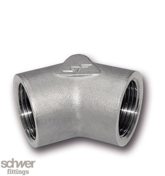 Winkel 45° - mit zylindrischem Whitworth-Rohrgewinde nach EN ISO 228-1