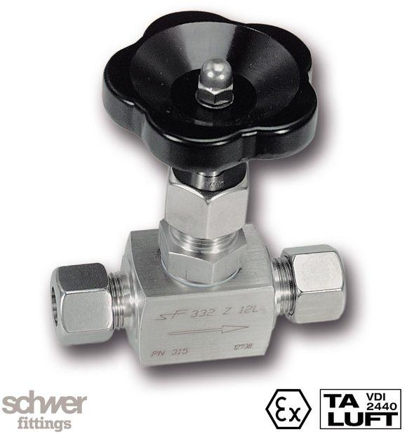 Nadelventil - mit Schneidringanschluß nach EN ISO 8434-1 (DIN 2353), mit außenliegendem Spindel-Verstellgewinde (ASP)