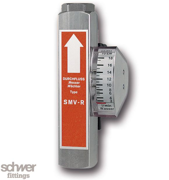 Schwebekörper-Durchflußmesser und -wächter - in Ganzmetallausführung, mit zylindrischem Whitworth-Rohrgewinde nach DIN/ISO 228