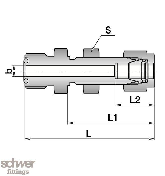 Schottverschraubung - mit u2-Anschluß