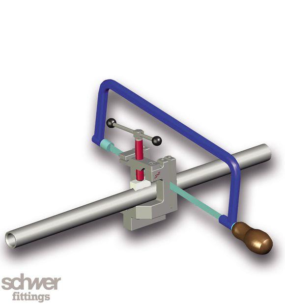 Rohr-Absägevorrichtung - für schnelles und rechtwinkliges Trennen von Rohren