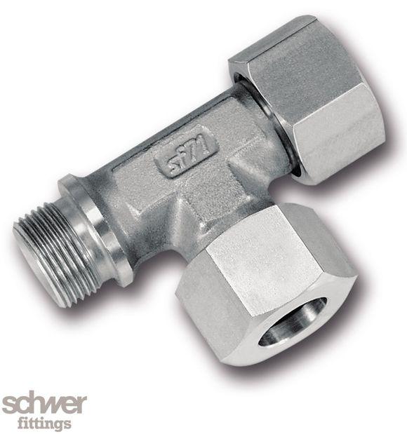 L-Einschraubverschraubung - mit zylindrischem Whitworth-Rohrgewinde nach EN ISO 228-1, metall. Dichtkante